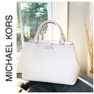 NWT authentic MK leather Florence satchel white